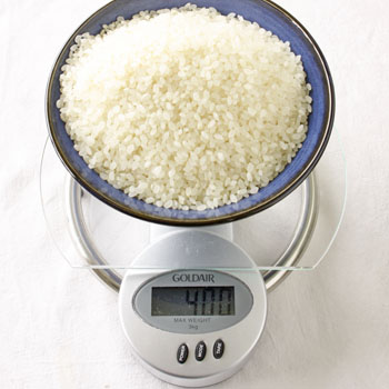Weigh The Dry Rice For 4 Portions You Need 400 Grams