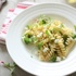 Spring Thinnings Pasta with Goat Cheese