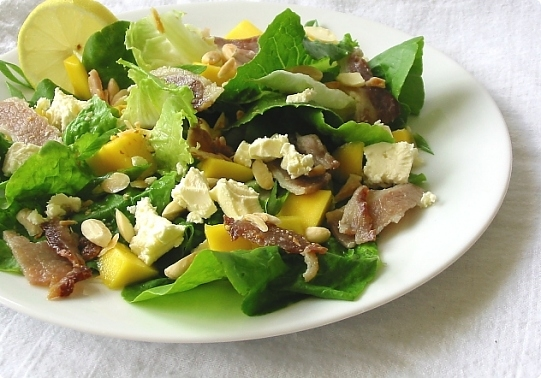 Mango, Feta and Streaky Bacon Salad