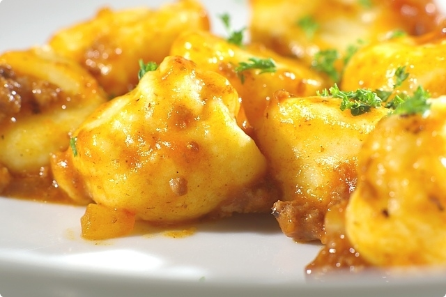 Potato Gnocchi with Bolognese