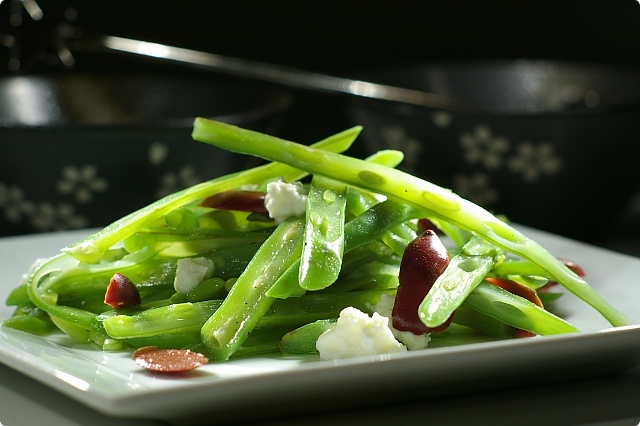 Green Bean, Goat cheese and Kalamata Salad