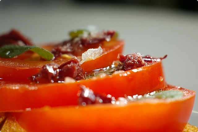 Tomato and Anchovy Bruschetta Topping