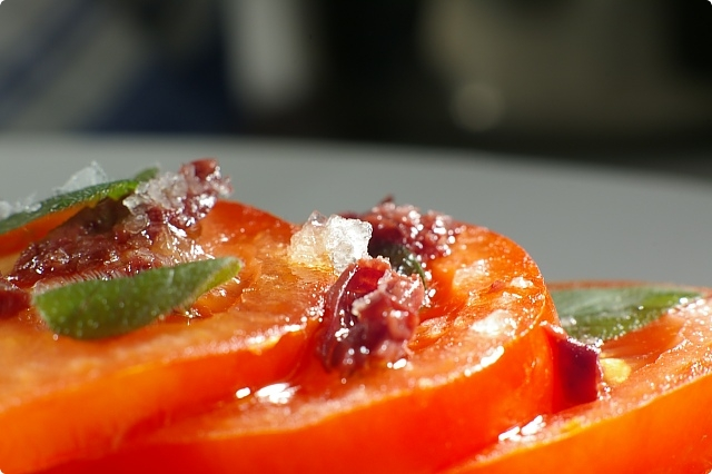 Tomato and Anchovy Bruschetta Closeup