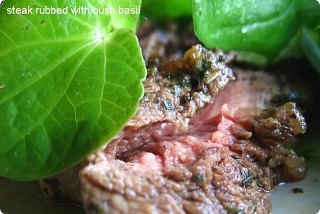 Arfi Kawakawa rubbed Sirloin Steaks