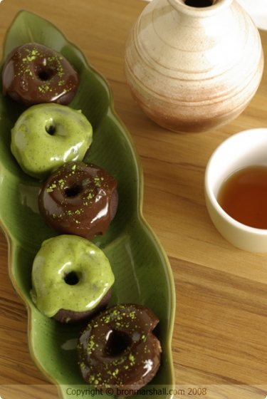 Mini Chocolate Matcha Doughnuts