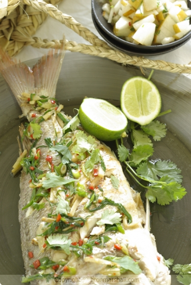 Whole Snapper with Lemongrass, Ginger and Chilli