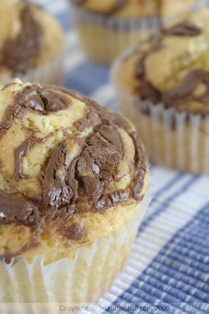 Self frosting cupcakes with nutella