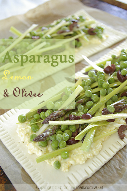 Spring Asparagus, Lemon and Olive Cottage Tart