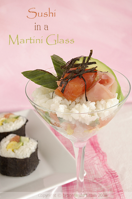 Sushi in a Martini Glass