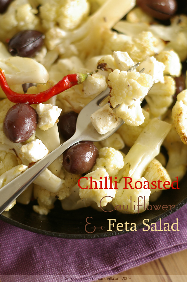 Chilli Roasted Cauliflower and Feta Salad
